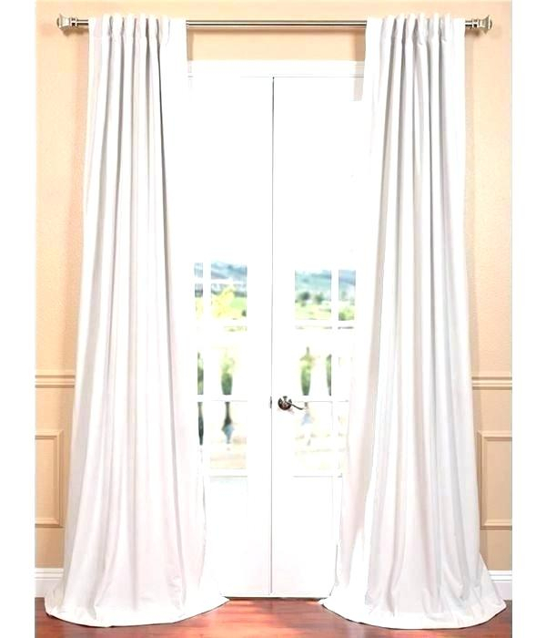 Buy Signature Off White Blackout Velvet Curtains And Drapes Pertaining To Signature Ivory Velvet Blackout Single Curtain Panels (#4 of 50)