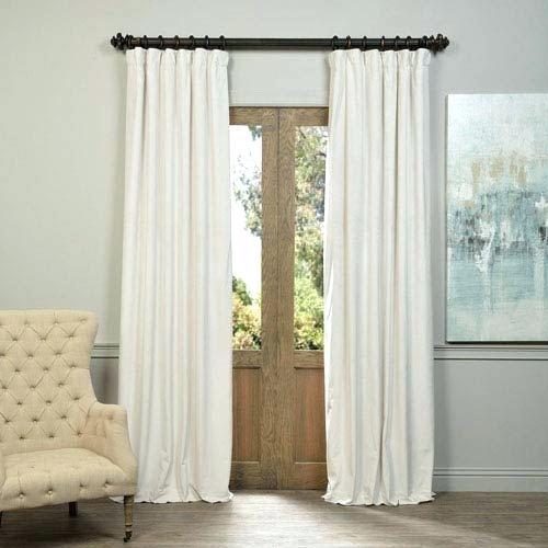 Buy Signature Off White Blackout Velvet Curtains And Drapes Throughout Signature Blackout Velvet Curtains (#5 of 50)