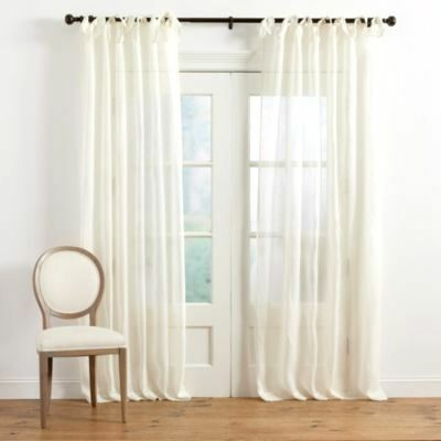 Buy Tie Top Sheer Curtains – Elsinle Throughout Elrene Jolie Tie Top Curtain Panels (#6 of 35)