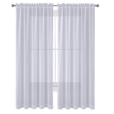 Buy Wpm Drape/panels/treatment Beautiful Sheer Voile Window Within Wilshire Burnout Grommet Top Curtain Panel Pairs (#11 of 45)