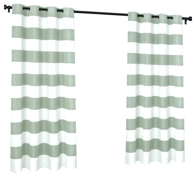 Cabana Stripe Curtains – Itran With Ocean Striped Window Curtain Panel Pairs With Grommet Top (#7 of 41)
