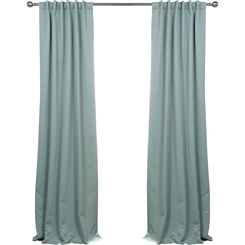 Cairo Solid Room Darkening Thermal Rod Pocket Panel Pair Inside Thermal Rod Pocket Blackout Curtain Panel Pairs (#15 of 50)