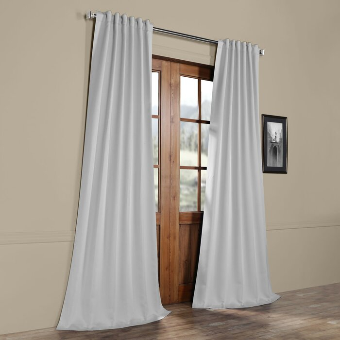 Cairo Solid Room Darkening Thermal Rod Pocket Panel Pair Intended For Cyrus Thermal Blackout Back Tab Curtain Panels (#4 of 39)