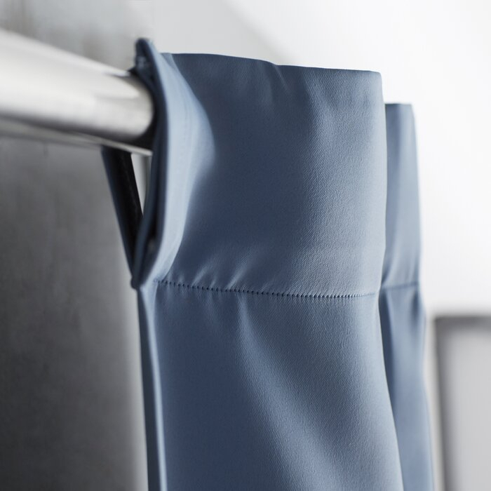 Cairo Solid Room Darkening Thermal Rod Pocket Panel Pair Throughout Cyrus Thermal Blackout Back Tab Curtain Panels (#6 of 39)