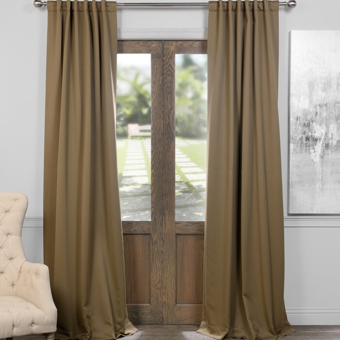 Cairo Solid Room Darkening Thermal Rod Pocket Panel Pair Throughout Cyrus Thermal Blackout Back Tab Curtain Panels (#5 of 39)