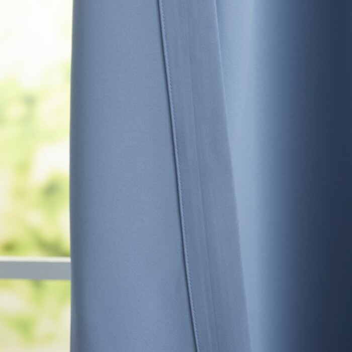 Cairo Solid Room Darkening Thermal Rod Pocket Panel Pair With Cyrus Thermal Blackout Back Tab Curtain Panels (#8 of 39)