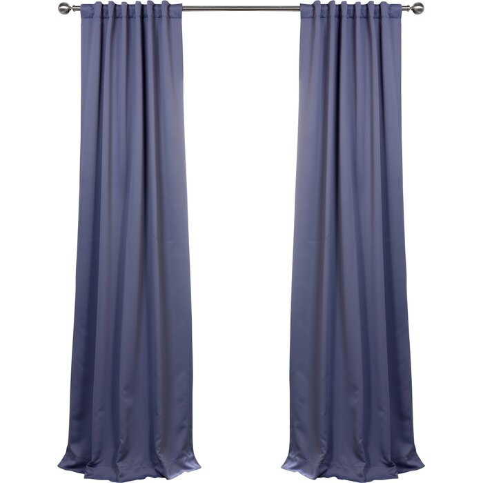 Cairo Solid Room Darkening Thermal Rod Pocket Panel Pair With Cyrus Thermal Blackout Back Tab Curtain Panels (#7 of 39)