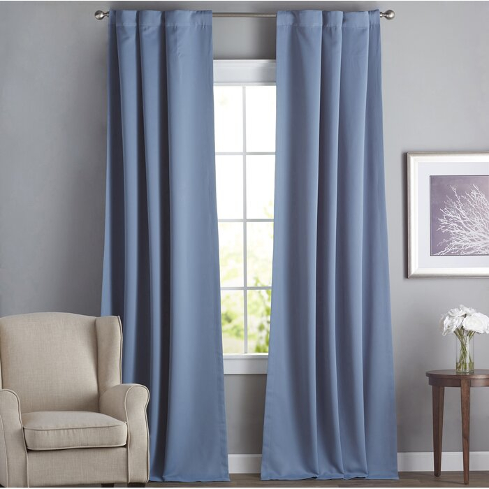 Cairo Solid Room Darkening Thermal Rod Pocket Panel Pair Within Cyrus Thermal Blackout Back Tab Curtain Panels (#10 of 39)