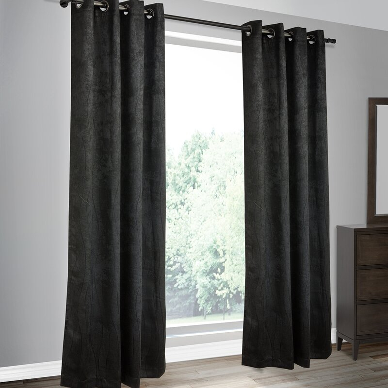 Calorafield Woven Solid Blackout Thermal Grommet Curtain Panels Throughout Embossed Thermal Weaved Blackout Grommet Drapery Curtains (View 11 of 42)