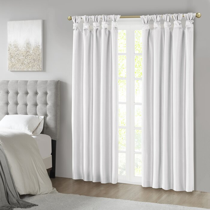 Campbelltown Solid Color Blackout Tab Top Single Curtain Panel Within Knotted Tab Top Window Curtain Panel Pairs (#5 of 50)