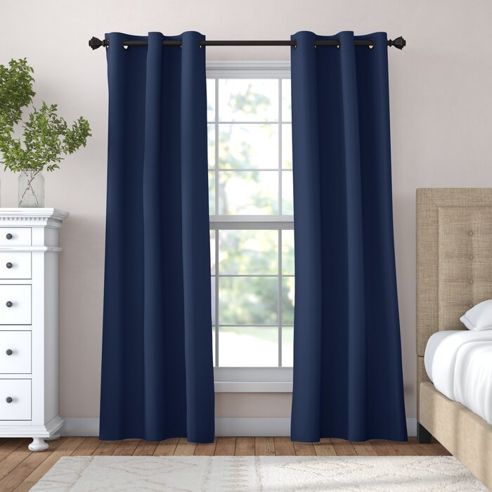Candler Absolute Solid Max Blackout Grommet Curtain Panels Regarding Riley Kids Bedroom Blackout Grommet Curtain Panels (#3 of 28)