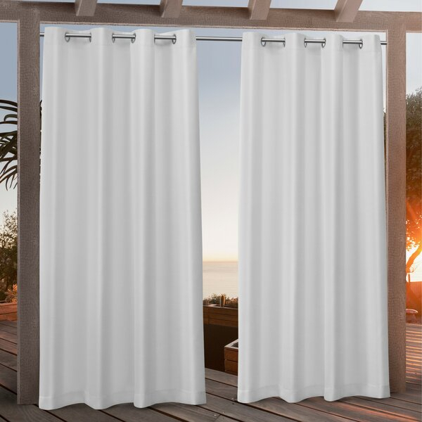 Canvas Curtains | Wayfair With Penny Sheer Grommet Top Curtain Panel Pairs (#14 of 49)