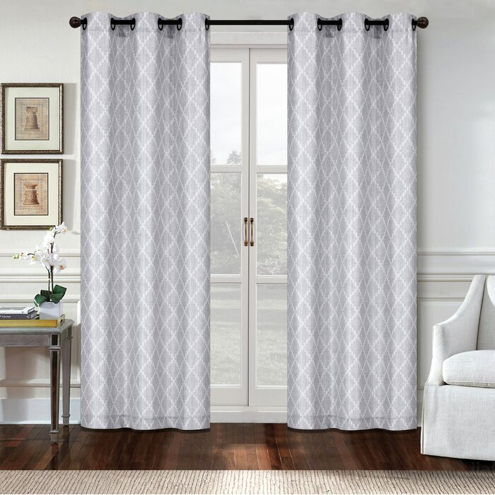 Canvas Grommet Curtains For Tacoma Double Blackout Grommet Curtain Panels (View 8 of 48)
