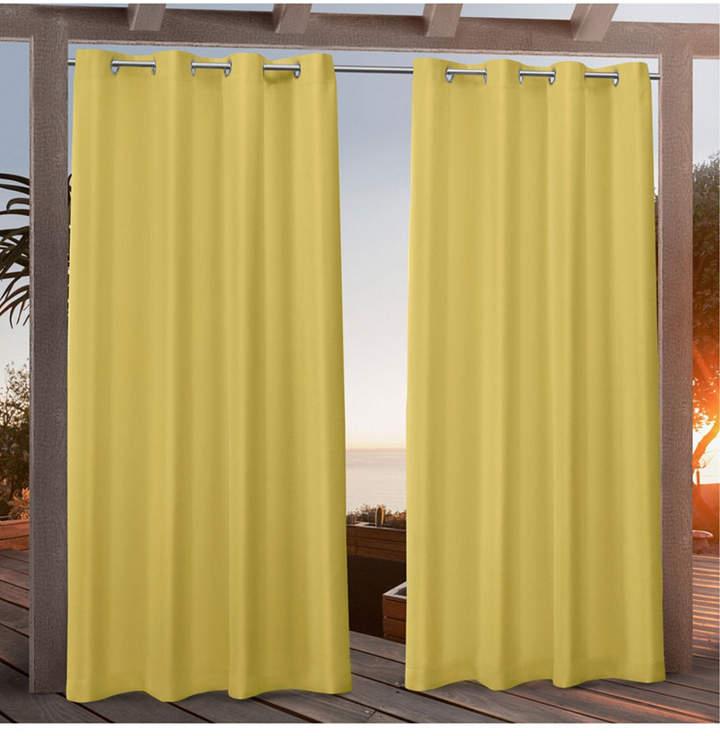"Canvas Indoor/outdoor Grommet Top 54"" X 96"" Curtain Panel Pair With Delano Indoor/outdoor Grommet Top Curtain Panel Pairs (View 18 of 45)"