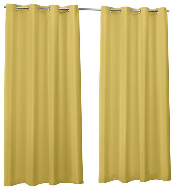 """Canvas Indoor/outdoor Grommet Top Curtain Panels, Set Of 2, Butter, 54""""x108"""" Intended For Indoor/outdoor Solid Cabana Grommet Top Curtain Panel Pairs (#8 of 48)"""
