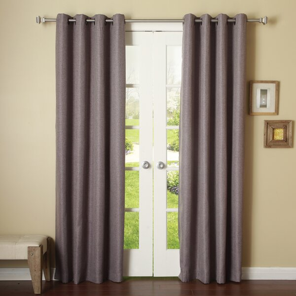 Canvas Linen Look 84 Drapes | Wayfair Within Softline Trenton Grommet Top Curtain Panels (View 38 of 50)