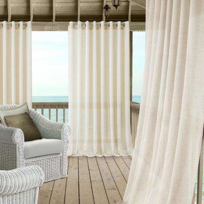 Carmen Extra Wide Indoor/outdoor Sheer Window Curtain Inside Extra Wide White Voile Sheer Curtain Panels (View 5 of 50)