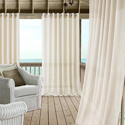 Carmen Sheer Extra Wide Indoor/outdoor Grommet Top Single Panel Window  Curtain Drape/curtain Patio, Gazebo And Pergola Panel Includes 1 Tieback,  114 Regarding Patio Grommet Top Single Curtain Panels (#5 of 38)