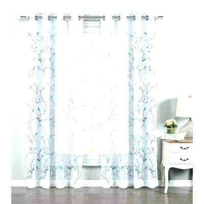 Cashmere Print Back Rod Pocket Curtain Panel 72 Inch Wide With Wavy Leaves Embroidered Sheer Extra Wide Grommet Curtain Panels (#8 of 50)