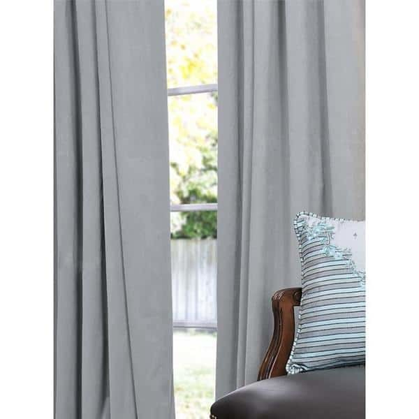 Catchy Gray Velvet Curtains And Exclusive Fabrics Signature Within Signature Blackout Velvet Curtains (#6 of 50)