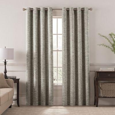 "Chantal 108"" Grommet Room Darkening Window Curtain Panel In In Pastel Damask Printed Room Darkening Grommet Window Curtain Panel Pairs (#10 of 50)"