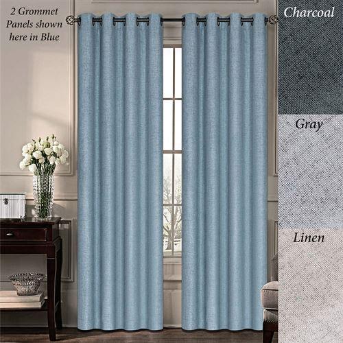 Chapin Energy Efficient Blackout Grommet Curtain Panel In Blackout Grommet Curtain Panels (View 15 of 40)