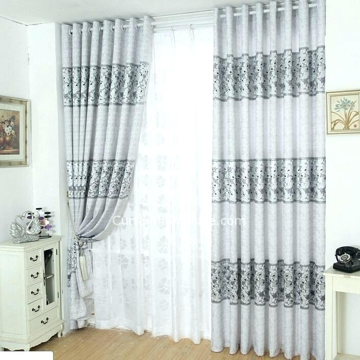 Charcoal Gray Room Darkening Curtains Geometric Drapes Throughout Geometric Linen Room Darkening Window Curtains (View 11 of 50)