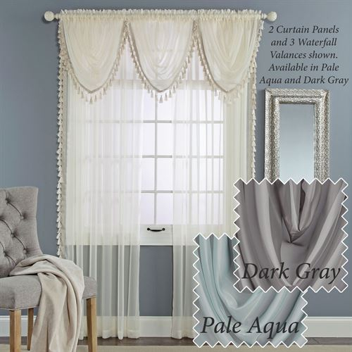 Charlotte Sheer Voile Window Treatment Throughout Sheer Voile Waterfall Ruffled Tier Single Curtain Panels (#4 of 50)