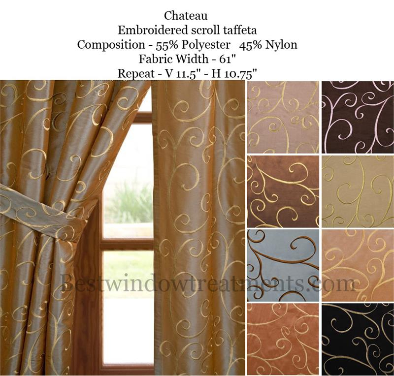 Chateau Curtain Panel Available In 18 Colors With Faux Silk Extra Wide Blackout Single Curtain Panels (View 7 of 50)