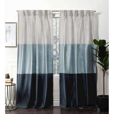Chateau Indigo Room Darkening Triple Pinch Pleat Top Curtain Panel – 27 In.  W X 84 In (#8 of 41)