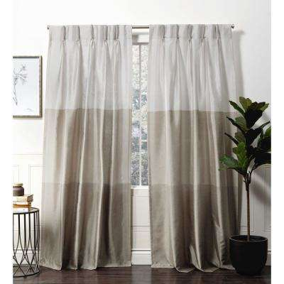 Chateau Taupe Room Darkening Triple Pinch Pleat Top Curtain Panel – 27 In.  W X 84 In (#5 of 50)