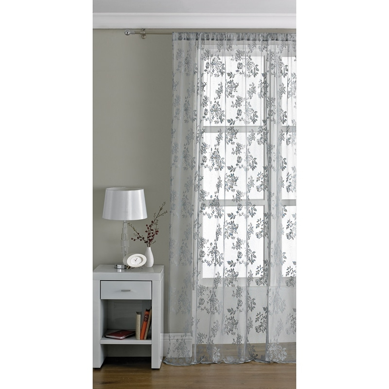 Cheap Voiles At B&m Stores Intended For Pairs To Go Victoria Voile Curtain Panel Pairs (#5 of 30)