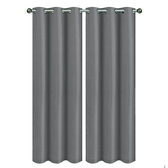 Chelsea Collection Foam Backed Blackout Panel Pair 76 With Regard To Silvertone Grommet Thermal Insulated Blackout Curtain Panel Pairs (#9 of 35)