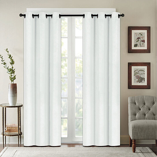 Chelsea Houston Solid Blackout Grommet Thermal Curtain Panels For Silvertone Grommet Thermal Insulated Blackout Curtain Panel Pairs (#10 of 35)