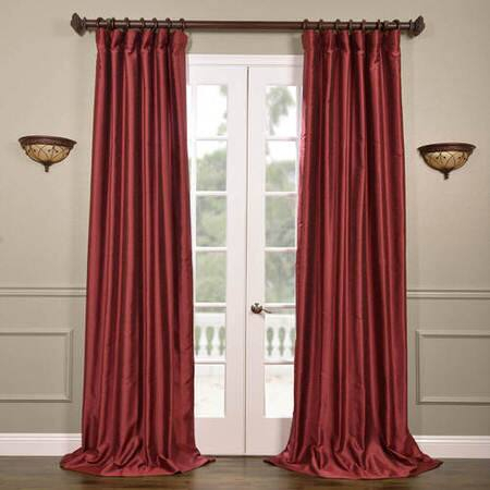 Cherrywood Yarn Dyed Faux Dupioni Silk Curtain – Kerala Inside Ombre Stripe Yarn Dyed Cotton Window Curtain Panel Pairs (View 14 of 31)