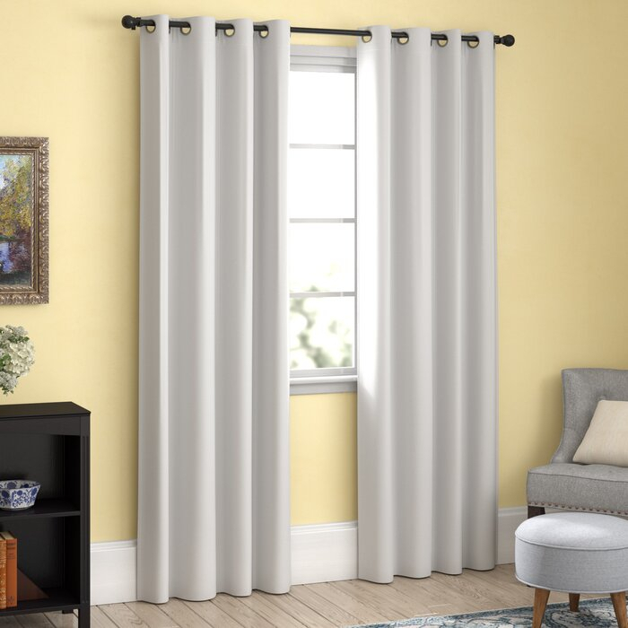 Chet Insulated Lined Solid Blackout Thermal Grommet Curtain Panels For Duran Thermal Insulated Blackout Grommet Curtain Panels (#3 of 29)