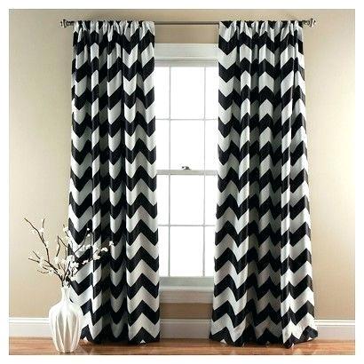 Chevron Blackout Curtain Panels Set Of 2 Black Curtains Within Chevron Blackout Grommet Curtain Panels (View 7 of 50)