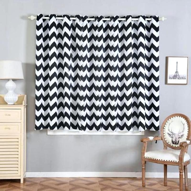 Chevron Blackout Curtains 2 Packs White Black X And Red Throughout Chevron Blackout Grommet Curtain Panels (View 9 of 50)