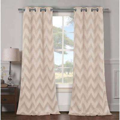 Chevron Blackout Curtains In L Grommet Panel Taupe 2 Pack Intended For Chevron Blackout Grommet Curtain Panels (View 10 of 50)