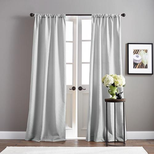 Chf Basket 84 In Grey Polyester Room Darkening Standard Intended For Floral Pattern Room Darkening Window Curtain Panel Pairs (View 7 of 44)