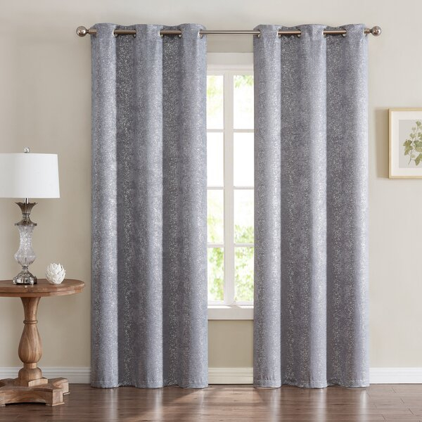 Chic Home Curtains Dainty Home | Wayfair With Bethany Sheer Overlay Blackout Window Curtains (View 6 of 50)