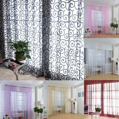 Chic Sheer Voile Vertical Ruffled Tier Window Curtain Single Throughout Sheer Voile Waterfall Ruffled Tier Single Curtain Panels (#8 of 50)