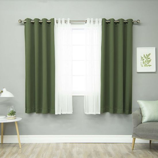 China Moss Home Fashion Mix And Match Tulle Sheer Lace And Intended For Mix And Match Blackout Tulle Lace Sheer Curtain Panel Sets (#34 of 50)