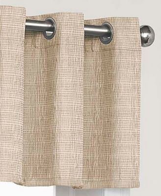 Chocolate 52X18 Eclipse Trevi Blackout Grommet Window Regarding Eclipse Trevi Blackout Grommet Window Curtain Panels (View 4 of 26)