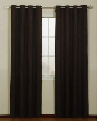 Chocolate And Gold Curtains – Shopstyle In Elrene Versailles Pleated Blackout Curtain Panels (View 6 of 38)