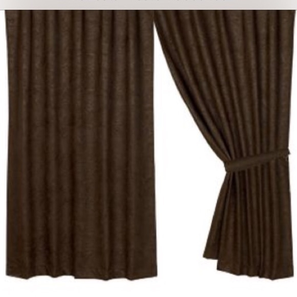 Chocolate Brown Faux Leather Drapes – 4 Panels Inside Luxury Collection Faux Leather Blackout Single Curtain Panels (View 9 of 42)