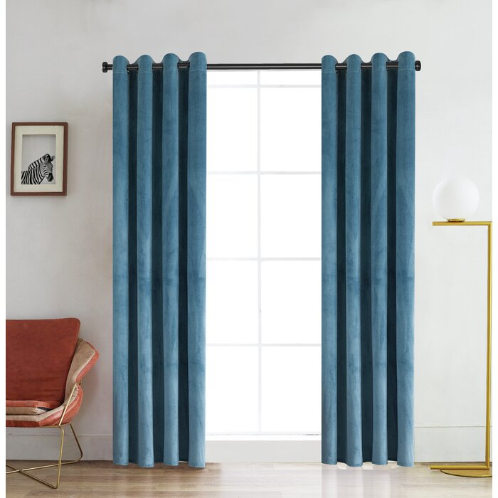 Ciel Solid Color Room Darkening Grommet Single Curtain Panel Regarding Single Curtain Panels (View 31 of 36)