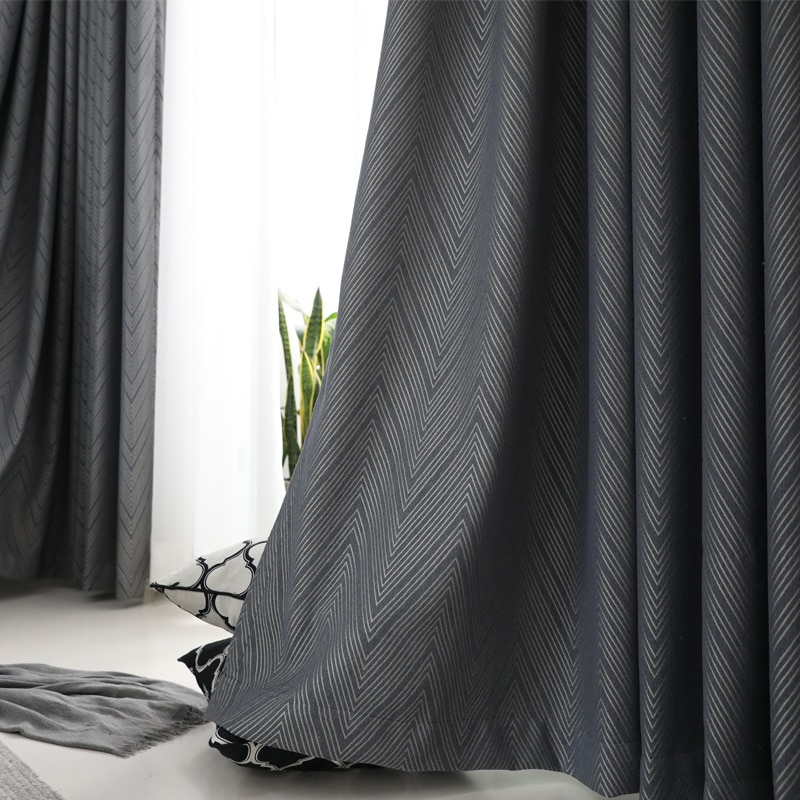 Cityincity Blackout Curtain For Living Room Soft Home Decor Drapes Faux  Linen Jacquard Geometric Curtains For Bedroom Pertaining To Geometric Linen Room Darkening Window Curtains (View 12 of 50)
