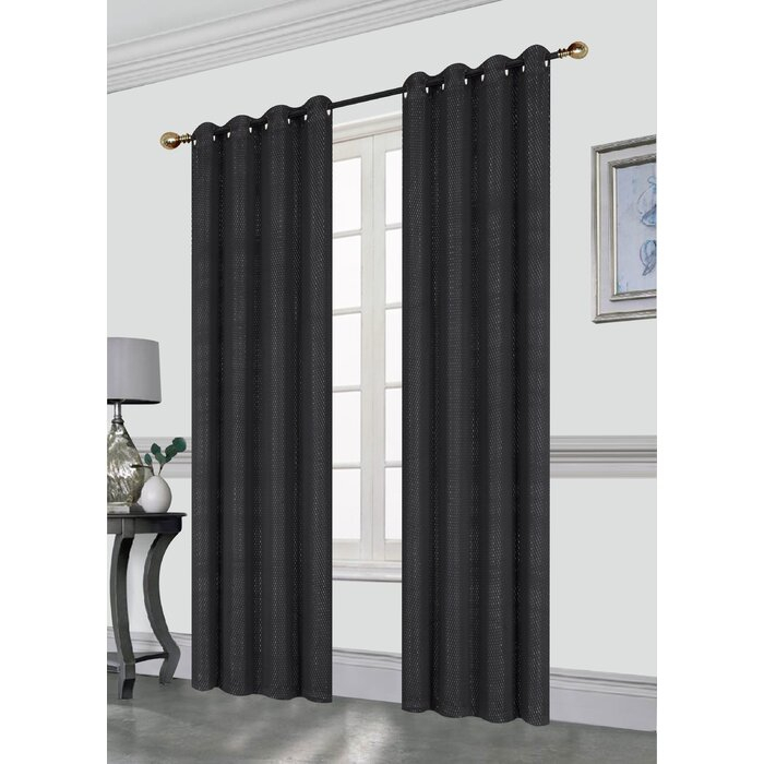 Clarksdale Blackout Grommet Single Curtain Panel Inside Single Curtain Panels (View 34 of 36)