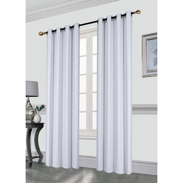 Clarksdale Blackout Grommet Single Curtain Panel Intended For Silvertone Grommet Thermal Insulated Blackout Curtain Panel Pairs (View 13 of 35)